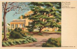 West Facade Lee Mansion VA Ruth Perkins Safford Government Services Postcard G11