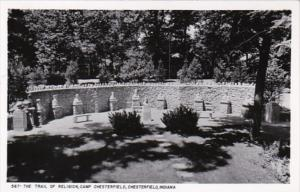Indiana Chesterfield The Trail Of Religion Camp Chesterfield 1960 Real Photo