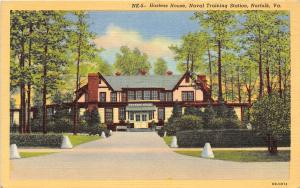 Hostess House Naval Training Station Base Norfolk Virginia postcard