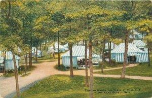 Camp Lake Geneva Wisconsin Tenting trees YMCA C-1910 Postcard VO Hammon 20-3861