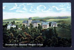 Stanstead Wesleyan College QUEBEC CANDA UDB Postcard PC