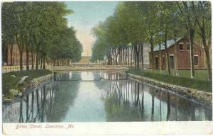 Bates Canal, Lewiston, Maine, ME, UNDivided Back