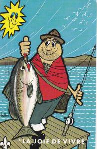 La Joie De Vivre,  Fisherman With Big Fish, 40-60´s