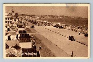 Felixstowe, UK-United Kingdom, The Promenade, Vintage Postcard