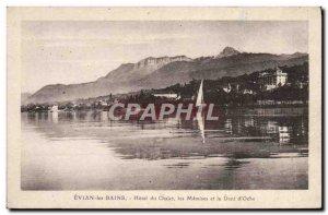 Old Postcard Evian les Bains Hotel Chalet les Memises and Dent D & # 39Oche