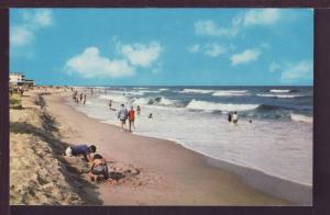 Beach Scene Delaware Coast Post Card 3832