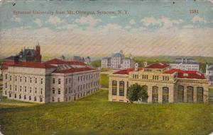 New York Syracuse University From Mount Olympus 1917