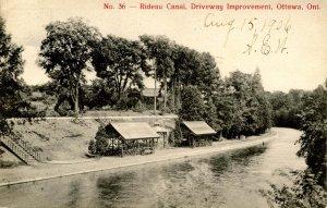 Canada - Ontario, Ottawa. Rideau Canal, Driveway Improvement