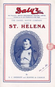 St Helena Ship Napoleon 1930s Military Dalys Antique Theatre Programme