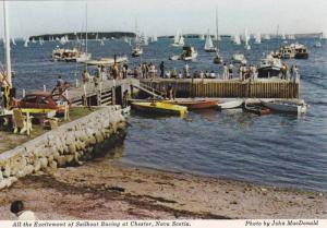All the Excitement of Sailboat Racing at Chester,  Nova Scotia,  Canada,   50...