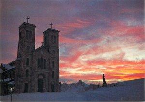 France carte postale Sanctuaire Notre Dame de la Sette aspect du soir