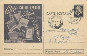 Romania advertising postal stationery postcard Agro Silvica books