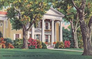 West Virginia Wheeling Mansion Oglebay Park 1967
