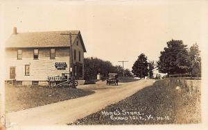 Grand Island VT Hoag's Store Post Office Milk Truck RPPC