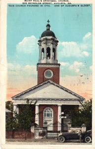 US    PC1627  ST PAUL'S EPISCOPAL CHURCH, AUGUSTA, GA 1928