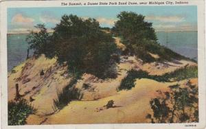 Indiana Michigan City The Summit A Dune State Park Sand Dune Curteich
