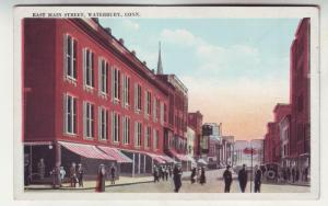 P276 JL 1915-30 postcard waterbury conn st scene old cars