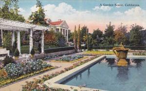 California A Garden Scene