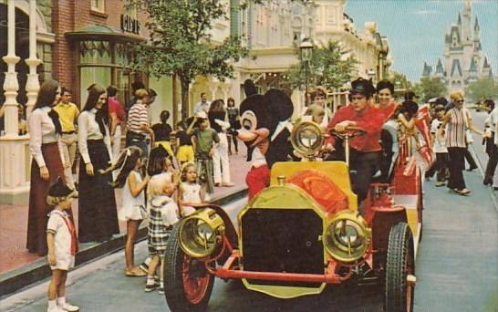 Riding Down Main Street U S A  Walt Disney World Orlando Florida