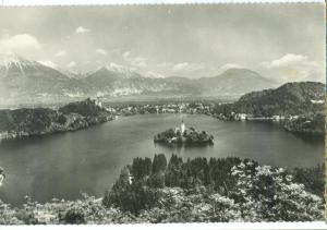 Slovenia, Bled, used real photo Postcard