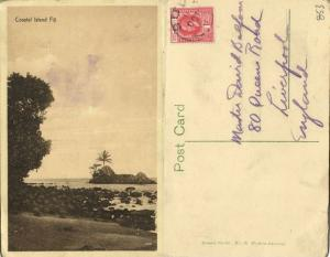fiji islands, Coastal Island (1910s) Stamp, Stinson Studio 15