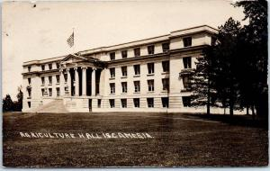 1910s Iowa State University RPPC Postcard AGRICULTURE HALL, I.S.C. Davis Photo
