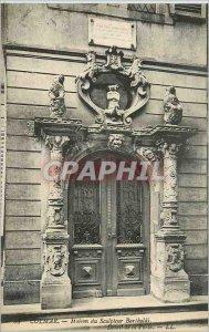 Postcard Old House Colmar sculptor Bartholdi's Detail of the Gate