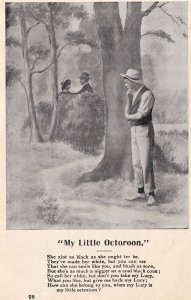 My Little Octoroon Old Politically Incorrect Songcard Postcard