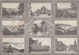 DUNEDIN, New Zealand, 1914; Greetings, Nine views