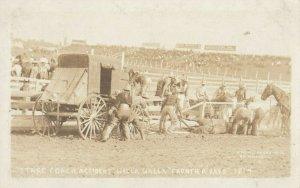 RP: RODEO , Walla Walla, Washington , 1913 ; Stage Coach Accident