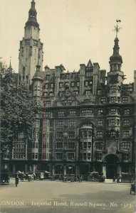 Postcard British England London imperial hotel russell square architecture tower