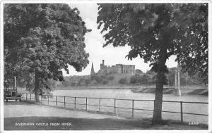 Scotland Inverness Castle from River, auto car, bridge bruecke pont