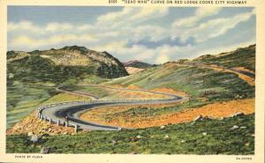 Dead Man Curve - Red Lodge Cooke City Highway - Montana - Linen