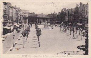 France Bordeaux Les Allees de Tourny au fond le Grand Theatre