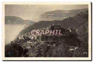 Old Postcard Eze Vue Generale Du Village