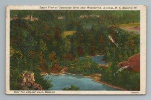 Gasconade River Waynesville Highway 66 Fort Leonard MO Missouri Postcard