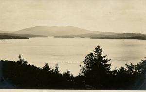 NH - Lake Sunapee. The Lake and the Mountain