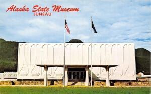 Juneau Alaska~Bas Relief State Museum~1960s Postcard