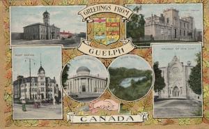 GUELPH , Ontario , Canada , 1909 , 6 view postcard
