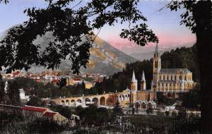 France Lourdes La Basilique et le Pic du Jer