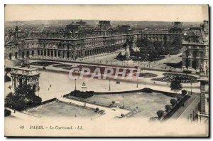 Postcard Old Paris Le Carrousel