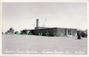 1956 Guthrie Center (Guthrie County) Iowa RPPC, Pre-Renovation, Apt. On top