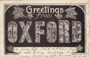 OXFORD, Ontario , 1906 ; Large Letters