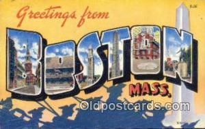 Boston, Mass, USA Large Letter Town 1960 postal used 1960
