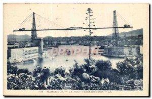 Marseille Old Postcard The transporter bridge