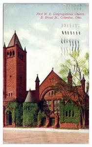 1913 First Methodist Episcopal Church, Columbus, OH Postcard