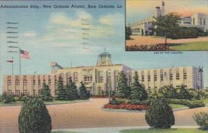 Louisiana New Orleans Administration Building New Orleans Airport 1948 Curteich