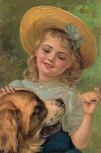 PFB 7686 ; Girl & Dog #2 , 1908