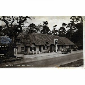 Real Photograph Postcard 'Cat and Fiddle, New Forest'