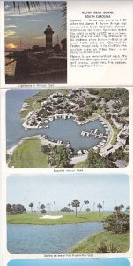 Folder postcard , HILTON HEAD , South Carolina , 50-70s